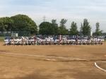 花見川区少年軟式野球連盟 第25回夏季大会開会式
